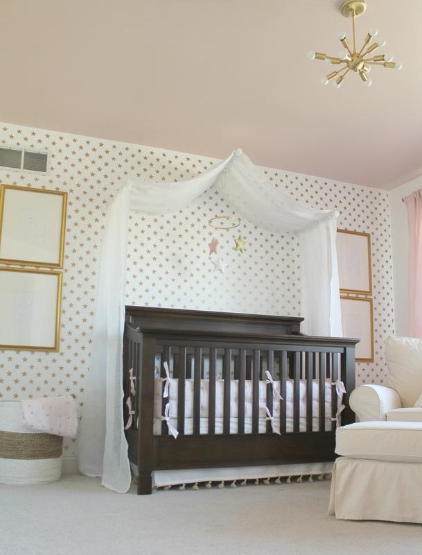 We Are Loving The Fresh Look Of This Nursery Had Challenge Creating A Bright Around Dark Furniture Painted All Walls White And